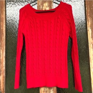 palette Sweaters - Pullover Cuffed Hemmed Cable Knit Sweater